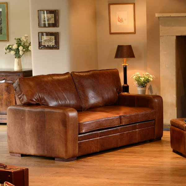 Living Room Furniture Ranges: Italian Leather Settee & Sofa Beds