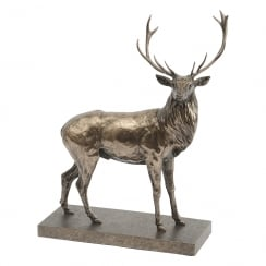 Antique Bronze Stag Sculpture By John Piper