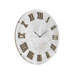 Antique Glass Mirror Wall Clock
