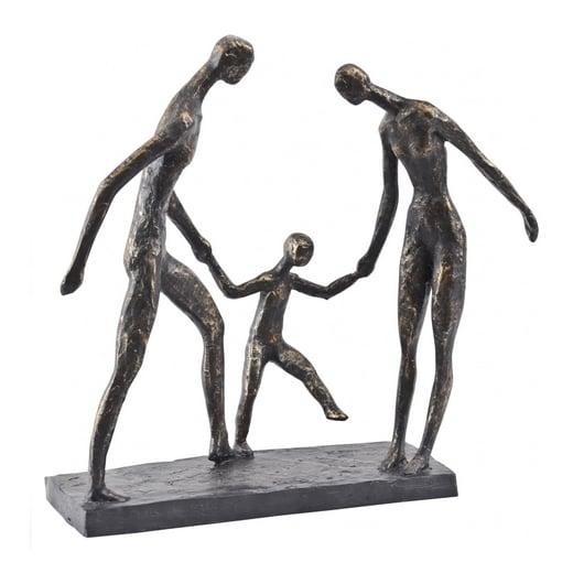 family sculpture bronze sculpture family gift curiosity interior