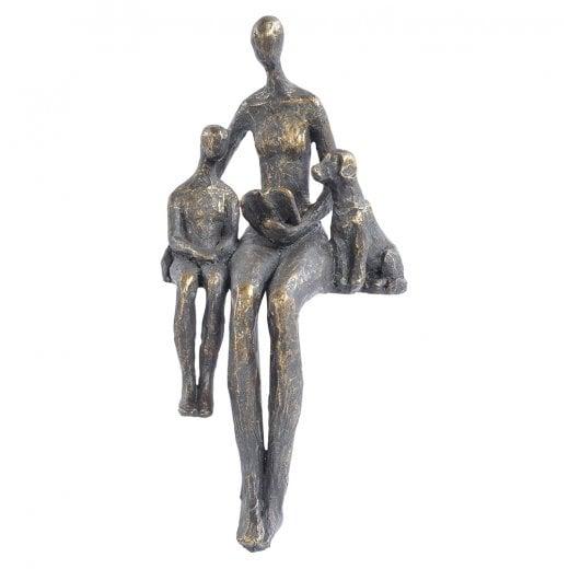 Bronze Family Sculpture Family Dog Sculpture Curiosity