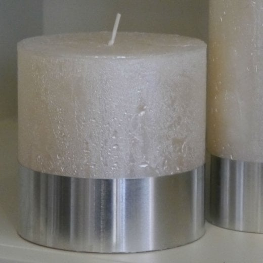 Libra Cream 10x10 Pearl Pillar Candle