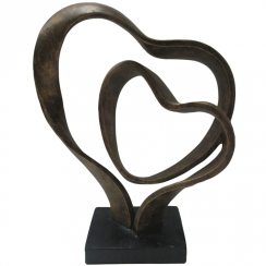 Double Heart Sculpture