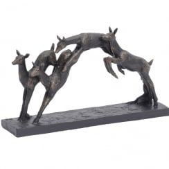Leaping Fawns Sculpture