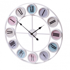 Pastels Smarty Iron Wall Clock