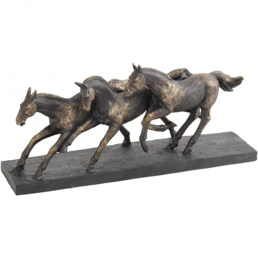Libra Running Horses Sculpture