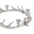 Libra Silver Antler Wreath with Candle Holders