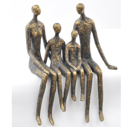 Libra Sitting Family Of Four Shelf Sculpture
