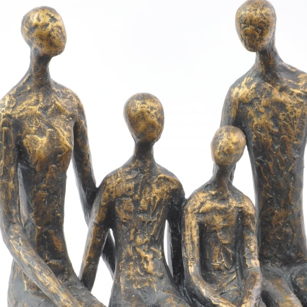 sitting family of four shelf sculpture from curiosity interiors