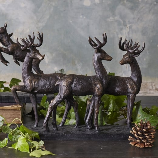 Libra Stag Trio Sculpture
