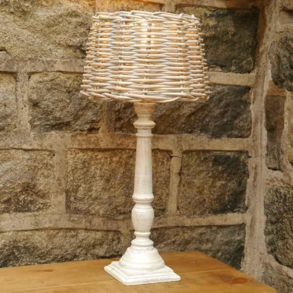 Rustic Rattan Table Lamp From Curiosity Interiors Light