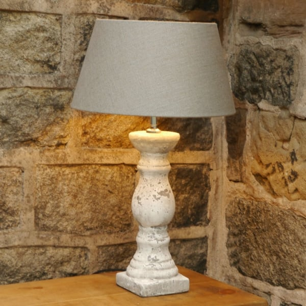Distressed Ceramic Grey Lamp From Curiosity Interiors Light Amp Living