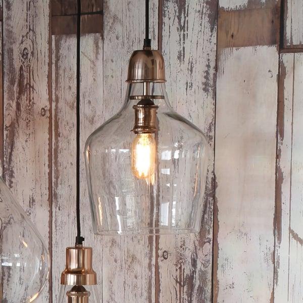 Light U0026 Living Sage Copper Hanging Lamp
