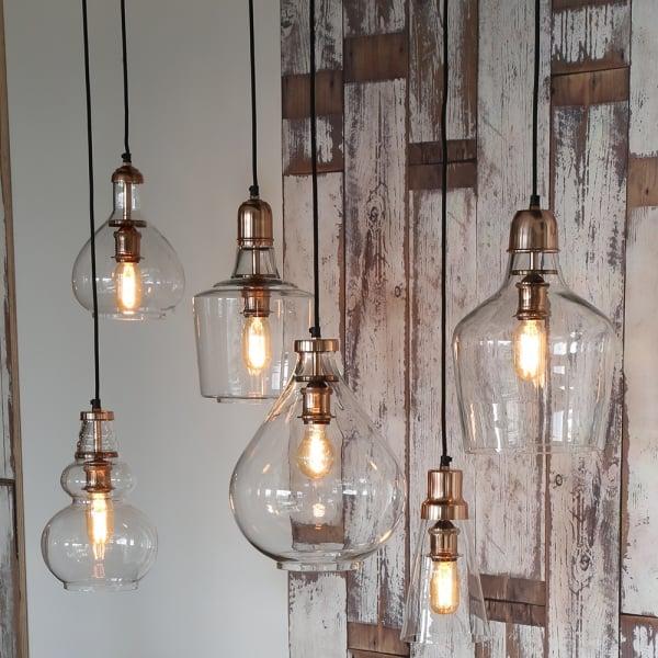 Exceptional Light U0026 Living Sage Copper Hanging Lamp