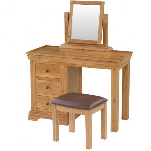 Louis Oak Dressing Table (Mirror U0026 Stool Sold Separately)