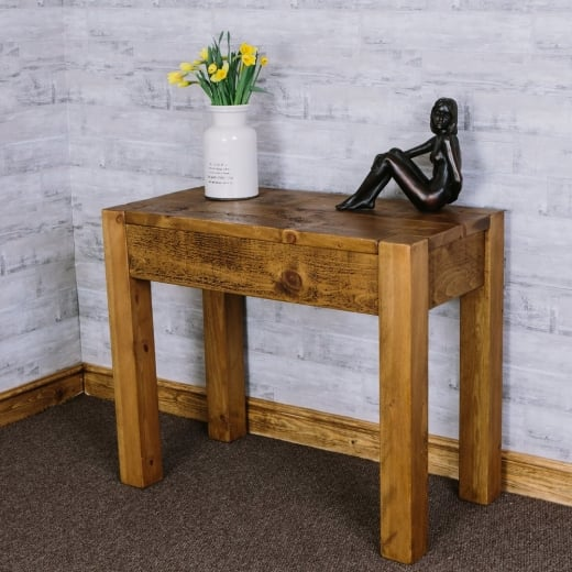 Lumber Plank Desk/ Dressing Table