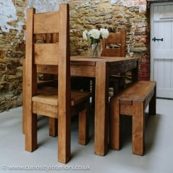 Lumber Plank Table & Haddon Daddy Chair Dining Package