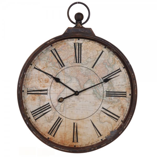 Map Stopwatch Wall Clock Clocks Amp Home Accessories