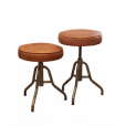 Mini Durham Leather Adjustable Stool