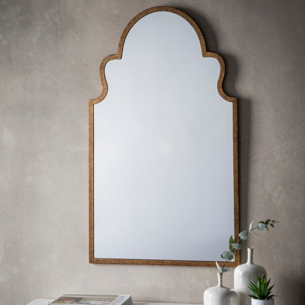 Morocco Curved Gold Frame Wall Mirror From Curiosity Interiors