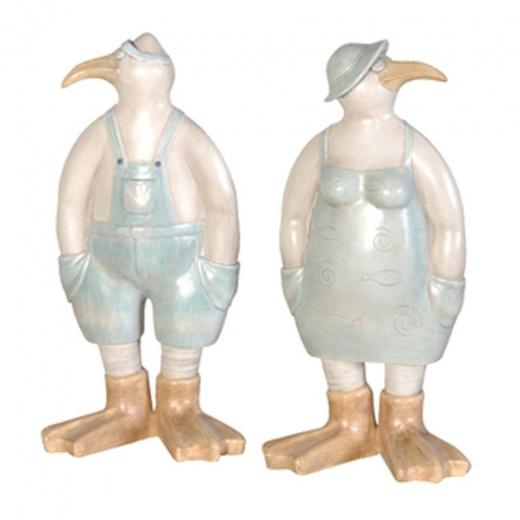 Mr Amp Mrs Seagull Figures Sculptures Amp Ornaments