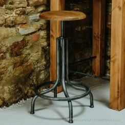 Adjustable Industrial Barstool