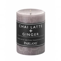 Chai Latte and Ginger Pillar Candle