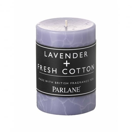 Parlane Lavender and Fresh Cotton Pillar Candle