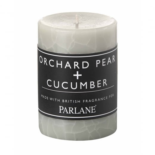 Parlane Orchard Pear and Cucumber Pillar Candle