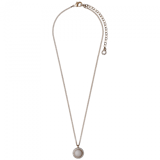 Pilgrim Rose Gold Plated Precious Stone Necklace