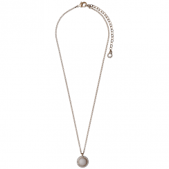 Rose Gold Plated Precious Stone Necklace
