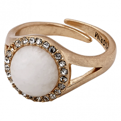 Rose Gold Plated Precious Stone Ring