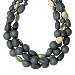 Statement Organic Pebble Necklace
