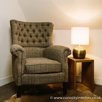 Cavendish Harris Tweed Wing Armchair