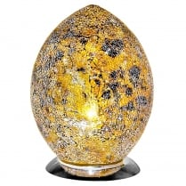 Crackle Glass Egg Lamp (Available in a selection of colours)