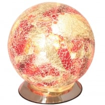 Crackle Glass Globe Lamp (Available in a selection of colours)