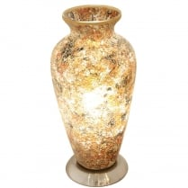 Crackle Glass Urn Lamp (Available in a selection of colours)