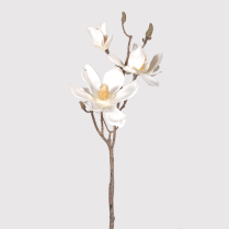 Cream Magnolia Branch Spray