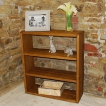 Cube Plank Low Bookcase
