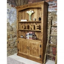 Devonshire Plank Bookcase with Cupboard