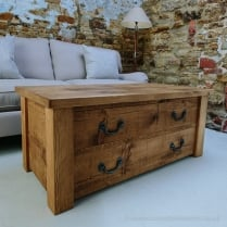 Haddon Plank Coffee Table with Drawers