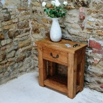 Haddon Plank Mini Console Table