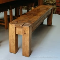Lumber Plank Dining Bench