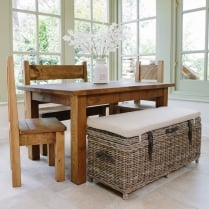 Haddon Plank & Cove Bench Dining Package