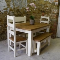 Haddon Plank Painted Dining Table
