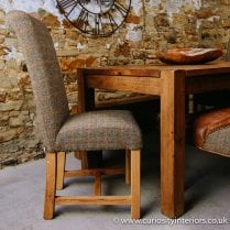 Harris Tweed Rollback Dining Chair