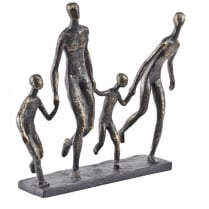 Bronze Family Of Four Sculpture