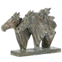 Equine Trio Horse Head Sculpture