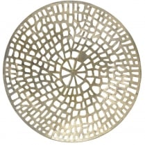 Gold Coral Design Round Wall Plaque
