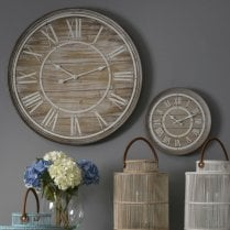 Hemsby Bleach Wooden Wall Clock